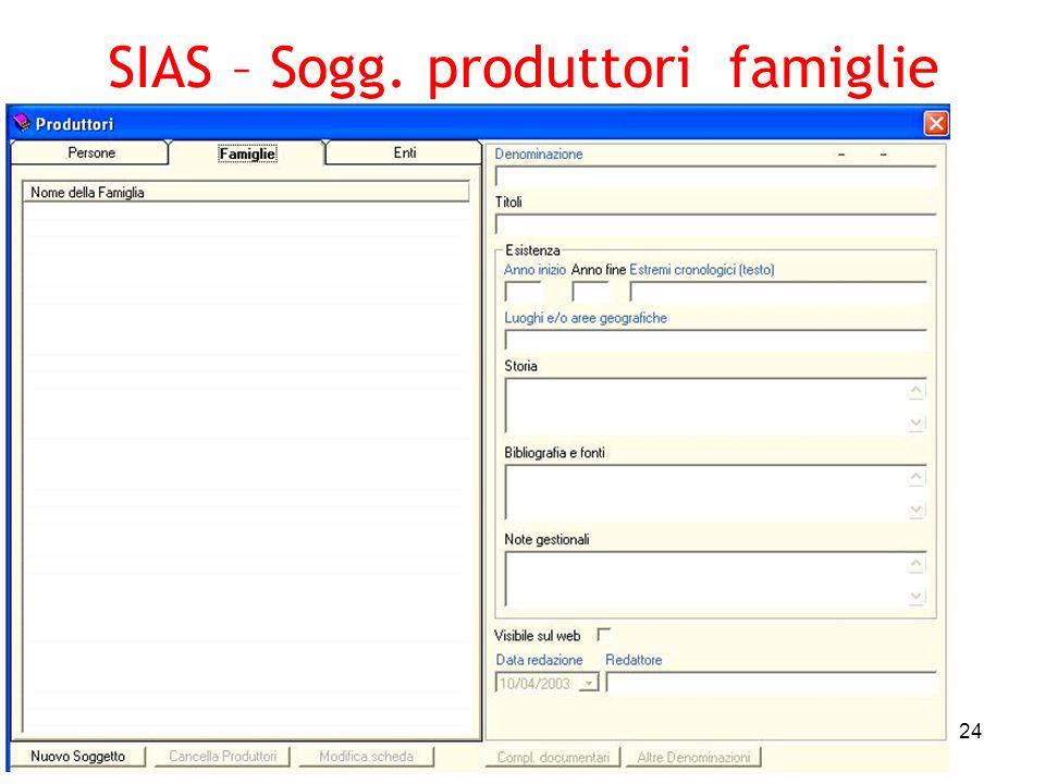 SIAS – Sogg. produttori famiglie