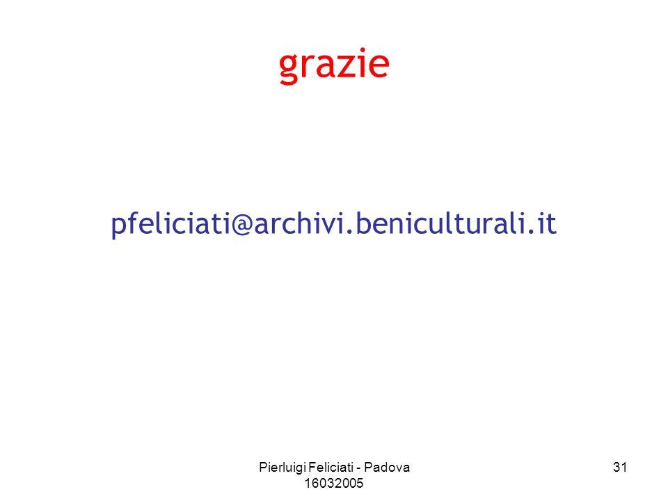 Pierluigi Feliciati - Padova 16032005