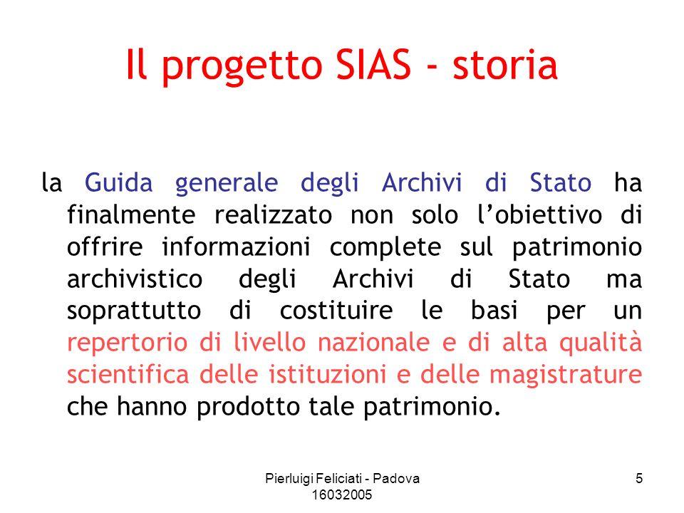 Il progetto SIAS - storia
