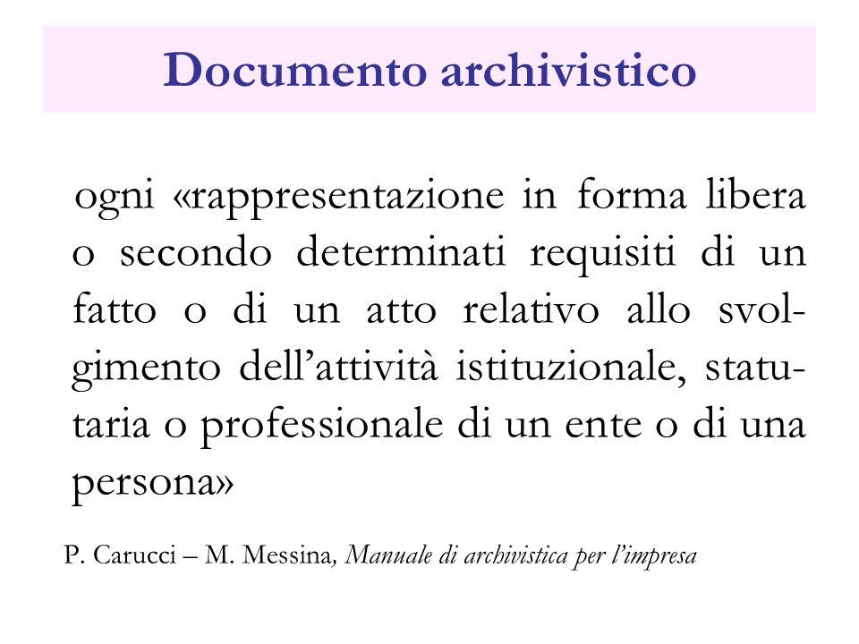 Documento archivistico