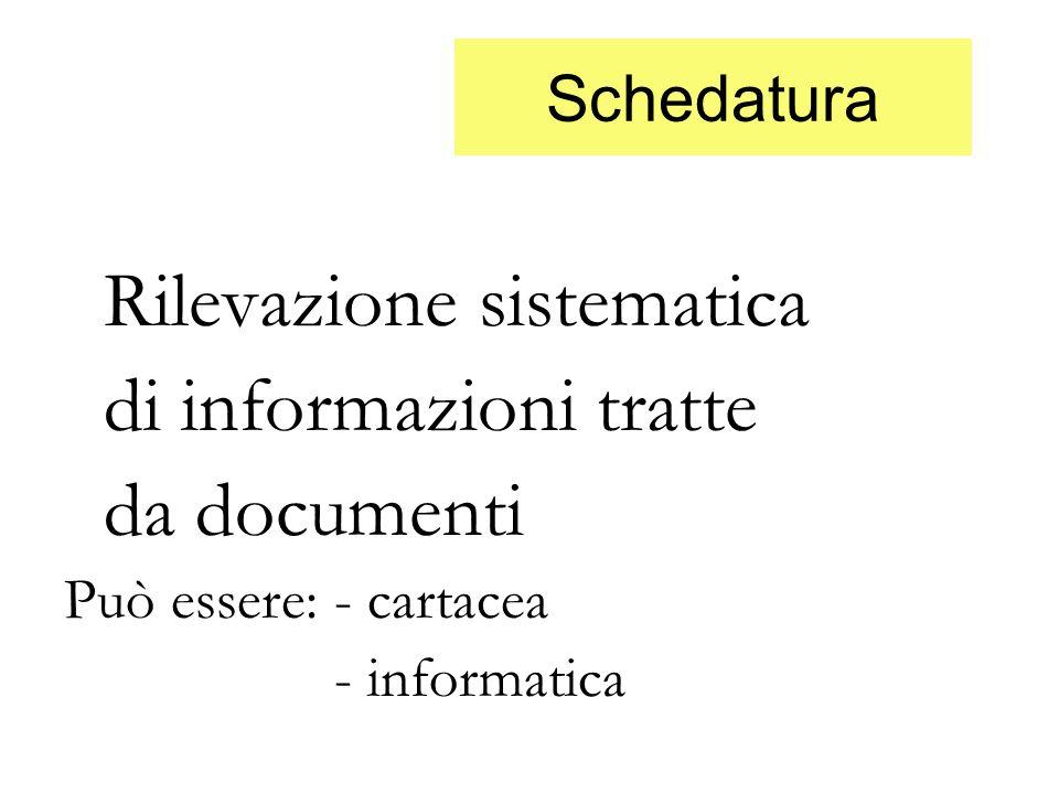 di informazioni tratte da documenti