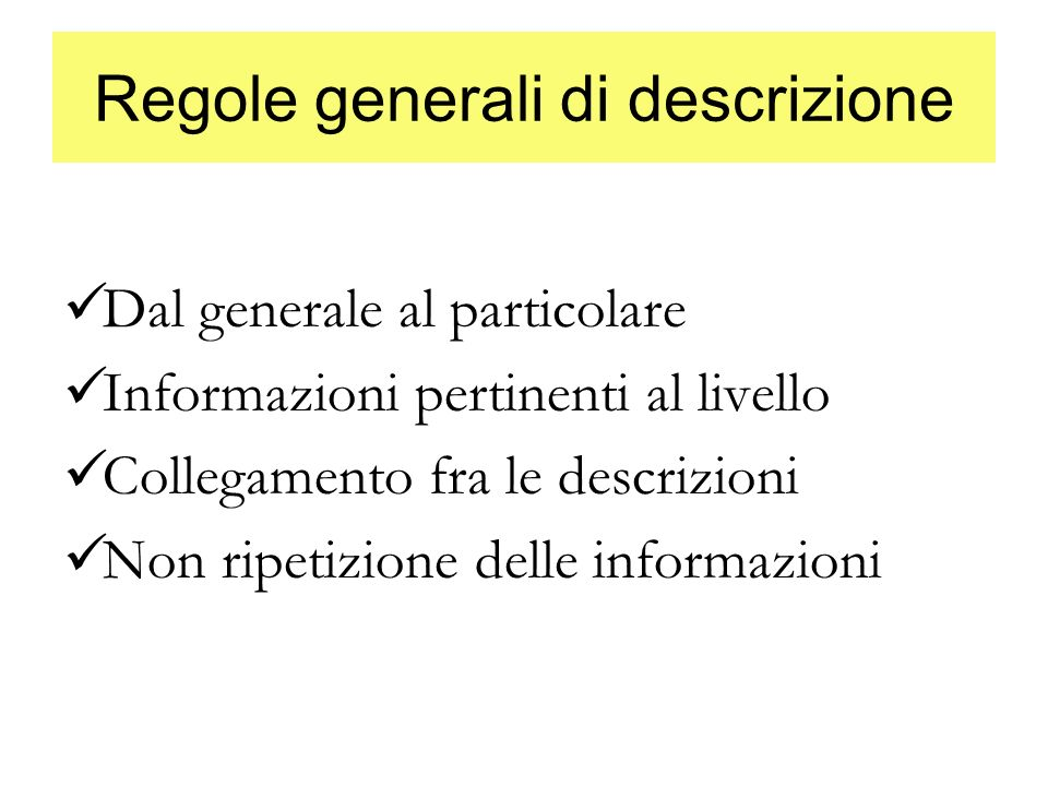 Regole generali di descrizione