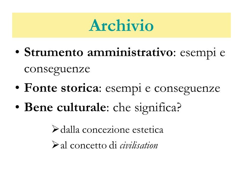 Archivio Strumento amministrativo: esempi e conseguenze