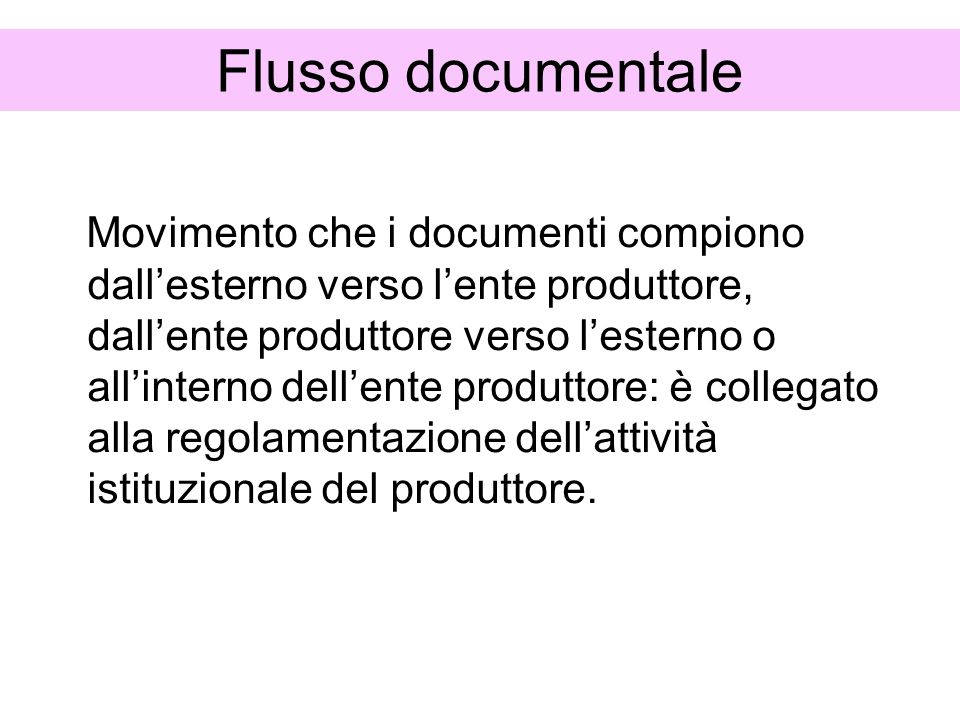 Flusso documentale