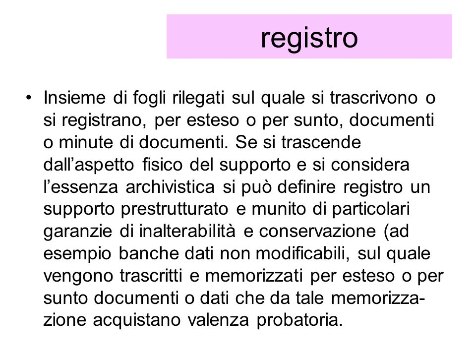 registro