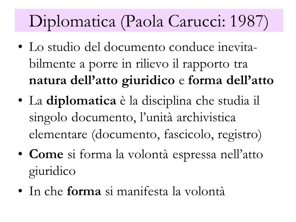 Diplomatica (Paola Carucci: 1987)