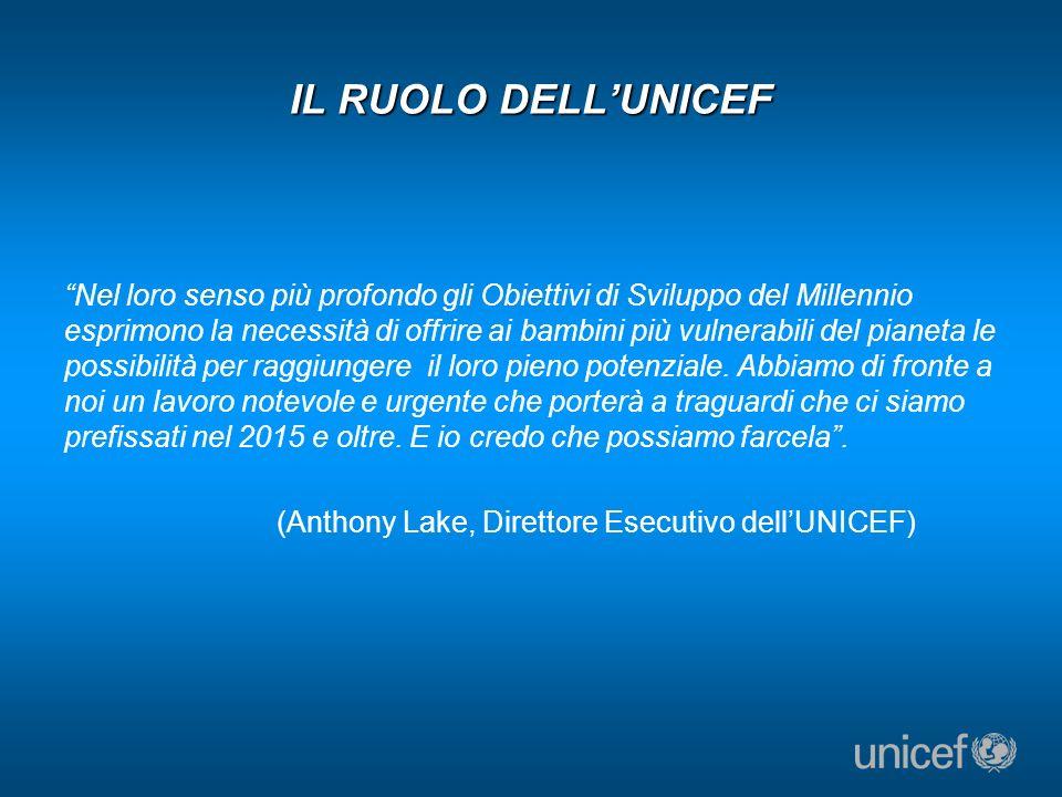 IL RUOLO DELL'UNICEF
