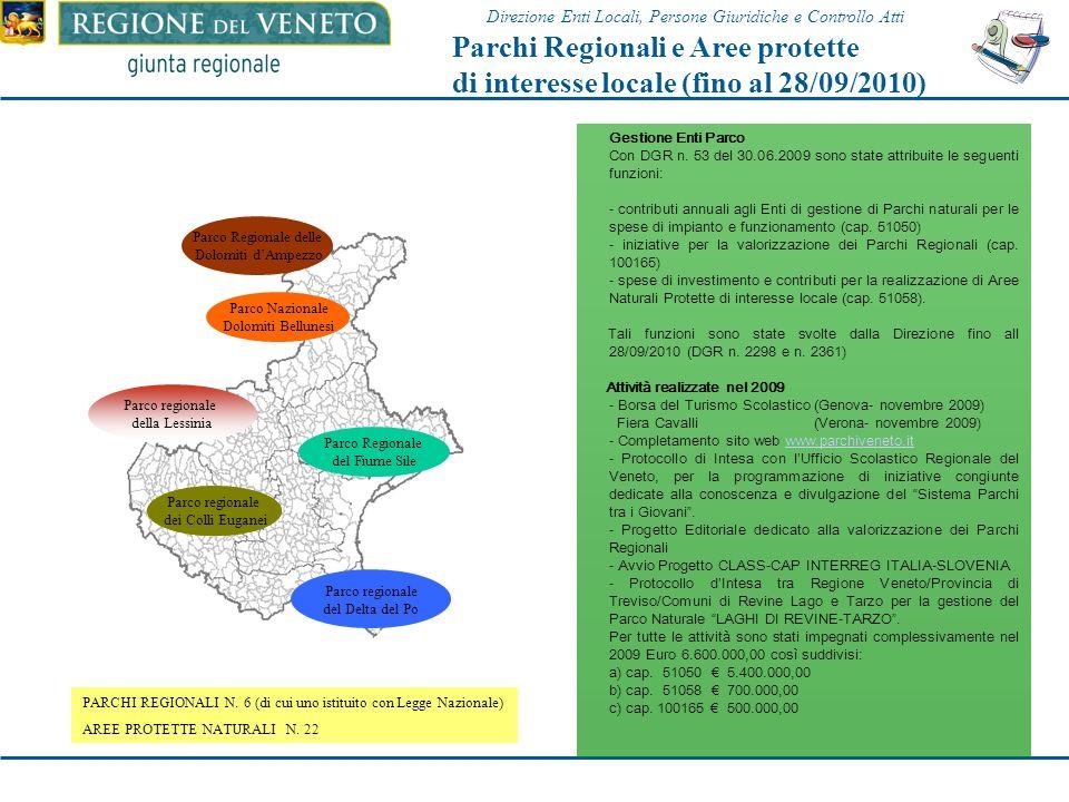 Parchi Regionali e Aree protette