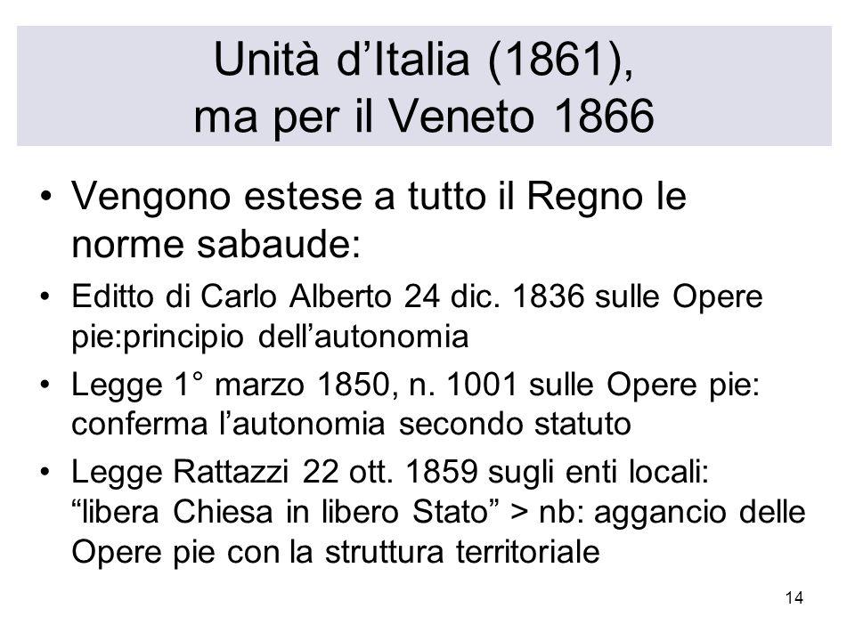 Unità d'Italia (1861), ma per il Veneto 1866