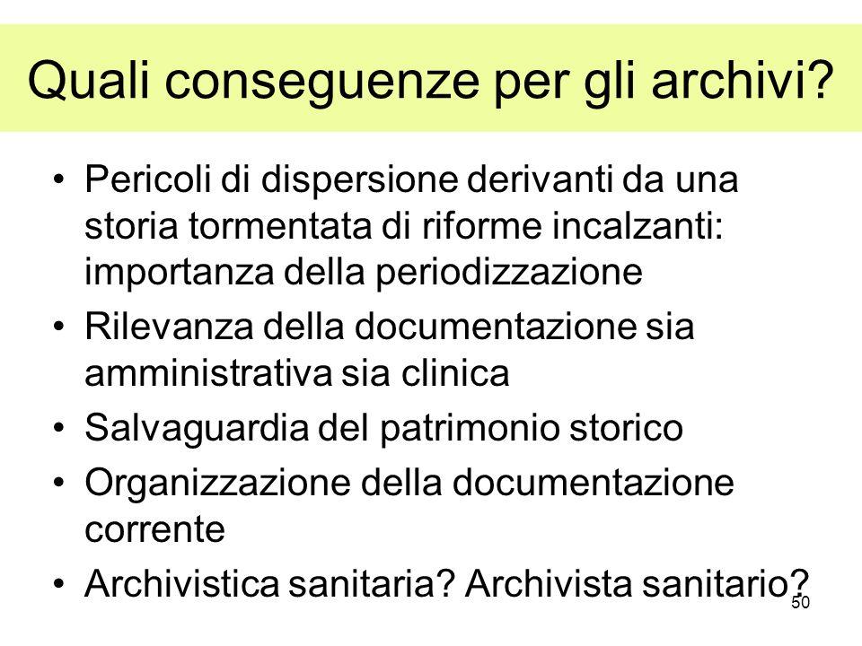 Quali conseguenze per gli archivi