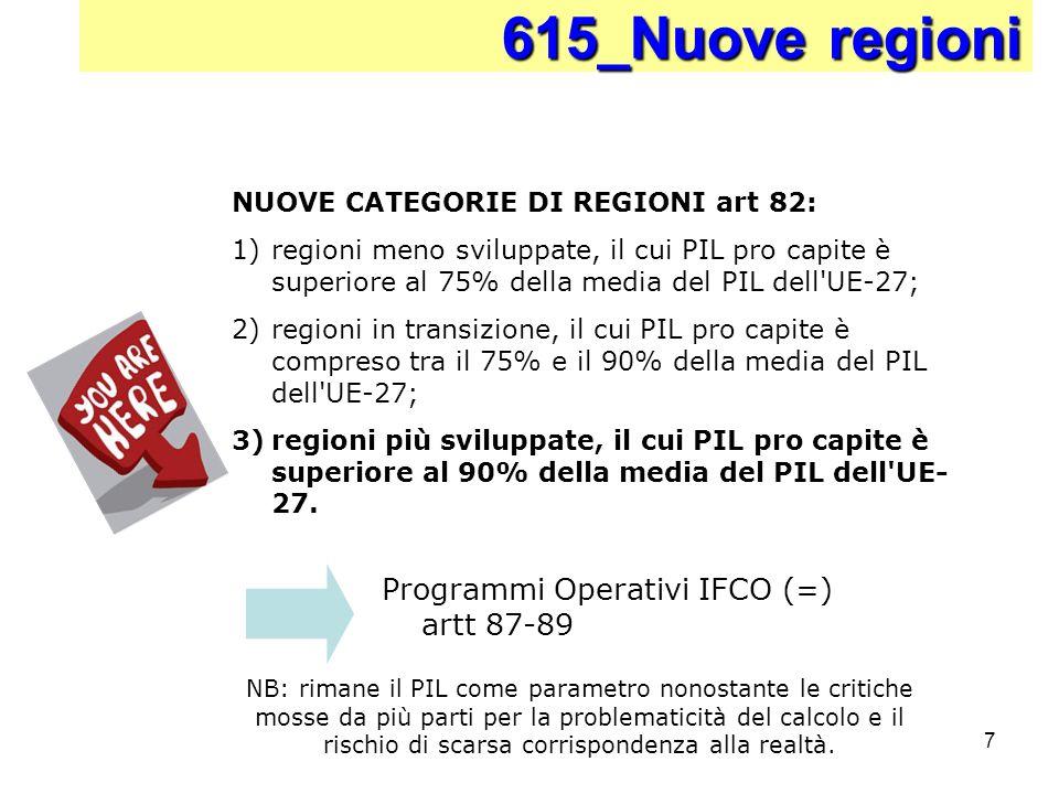 615_Nuove regioni Programmi Operativi IFCO (=) artt 87-89