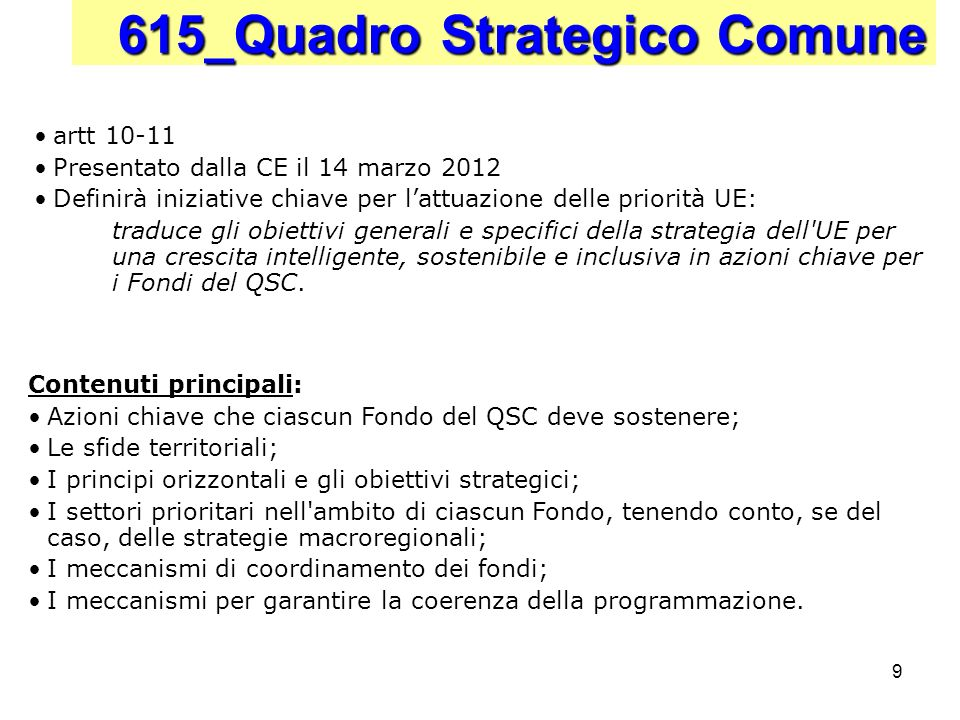 615_Quadro Strategico Comune