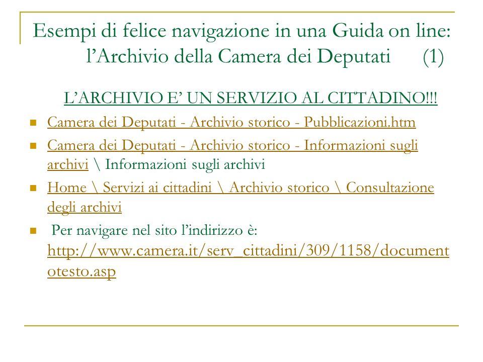 L'ARCHIVIO E' UN SERVIZIO AL CITTADINO!!!
