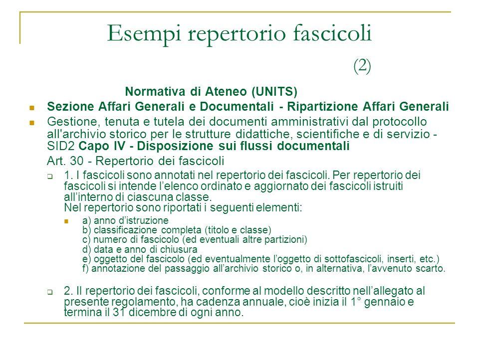 Esempi repertorio fascicoli (2)