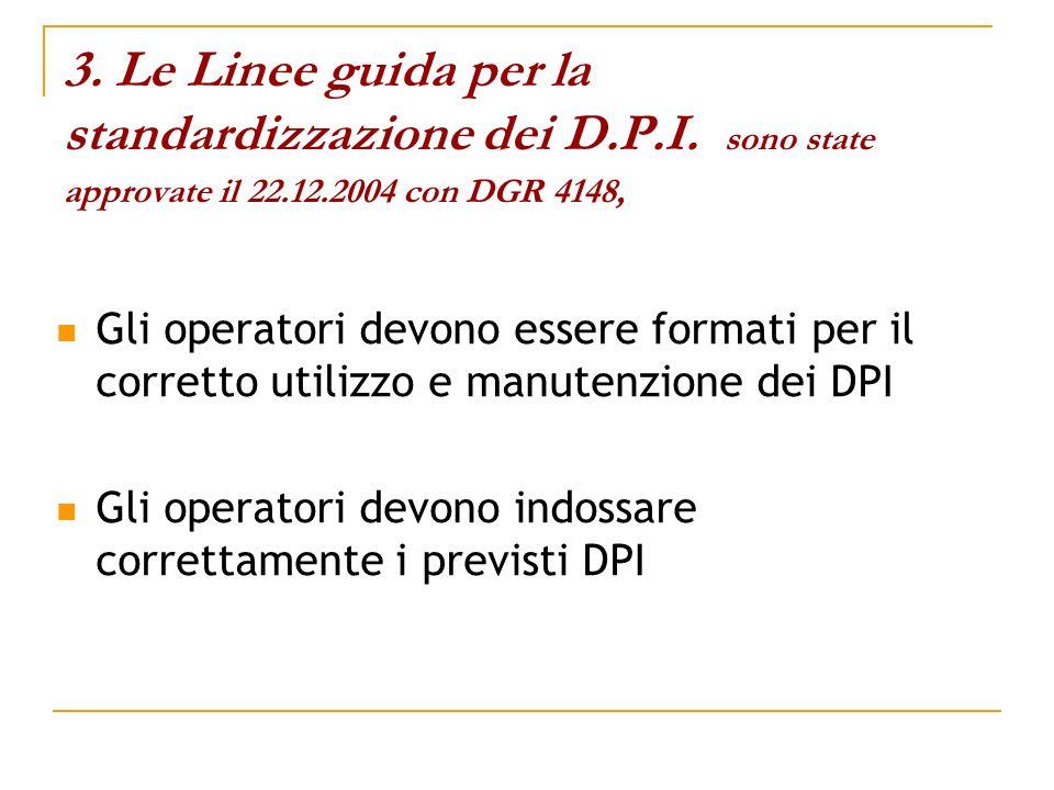 3. Le Linee guida per la standardizzazione dei D. P. I
