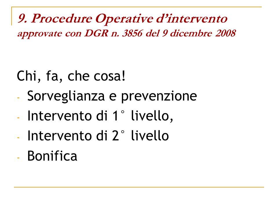 Sorveglianza e prevenzione Intervento di 1° livello,