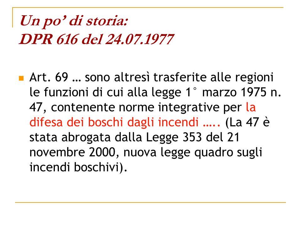 Un po' di storia: DPR 616 del 24.07.1977