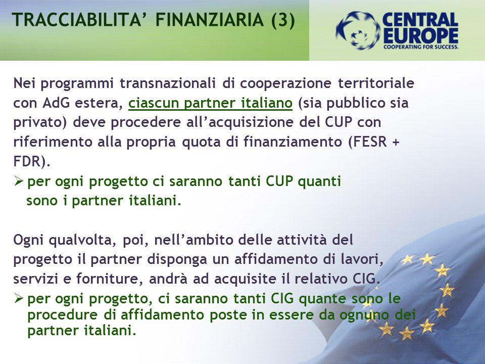 TRACCIABILITA' FINANZIARIA (3)