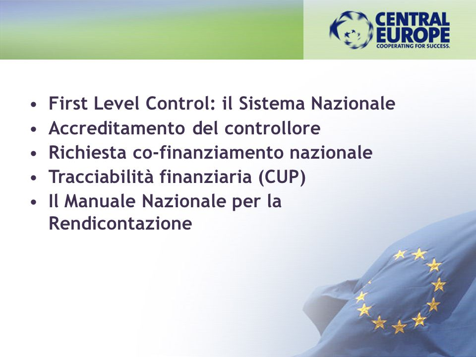 First Level Control: il Sistema Nazionale