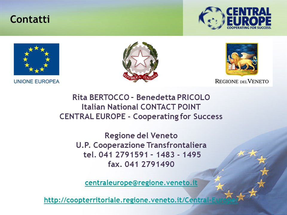 Contatti Rita BERTOCCO – Benedetta PRICOLO