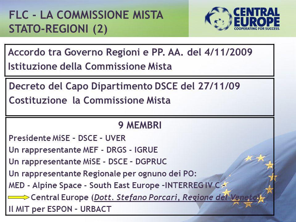 FLC - LA COMMISSIONE MISTA STATO-REGIONI (2)