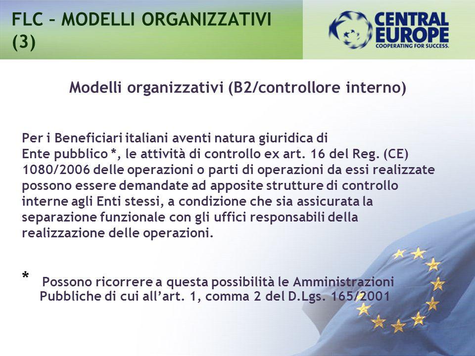 FLC – MODELLI ORGANIZZATIVI (3)