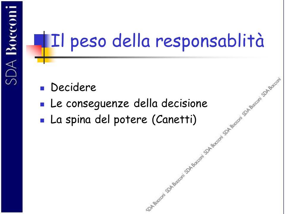 Il peso della responsablità