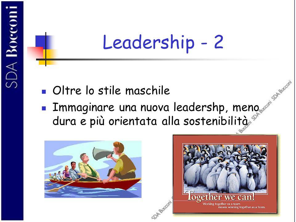 Leadership - 2 Oltre lo stile maschile