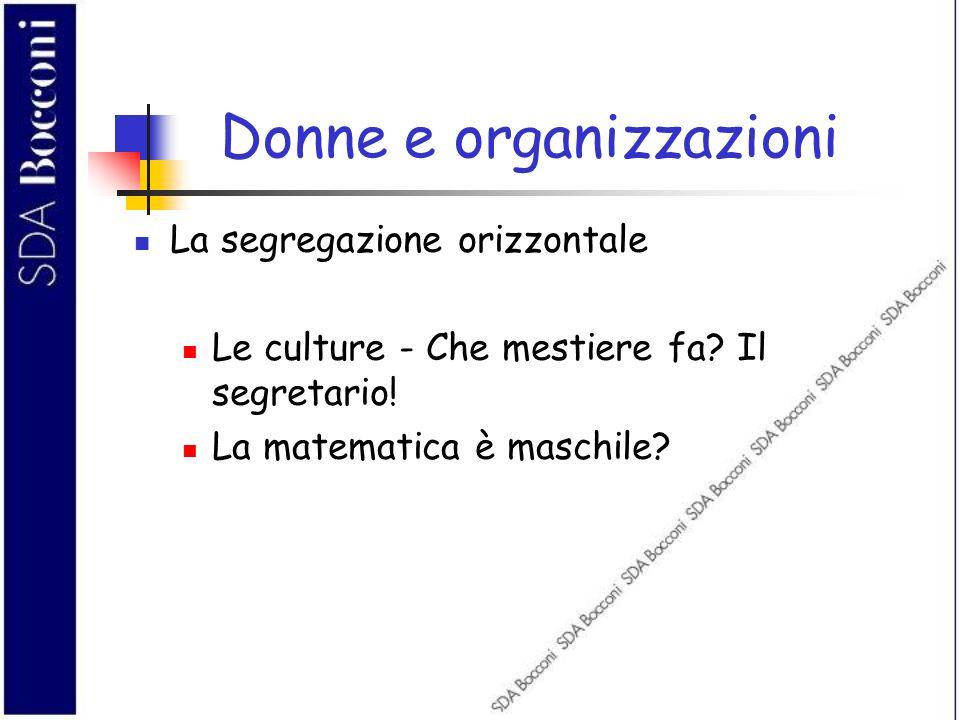 Donne e organizzazioni