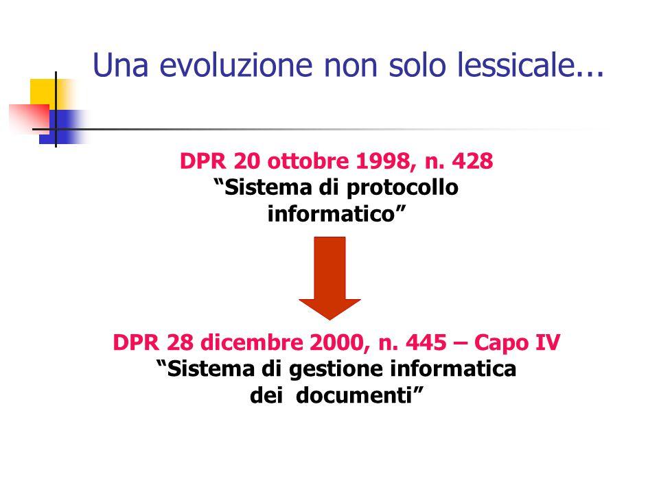Una evoluzione non solo lessicale...
