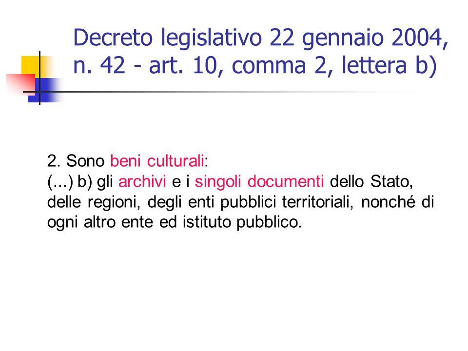 Decreto legislativo 22 gennaio 2004, n. 42 - art