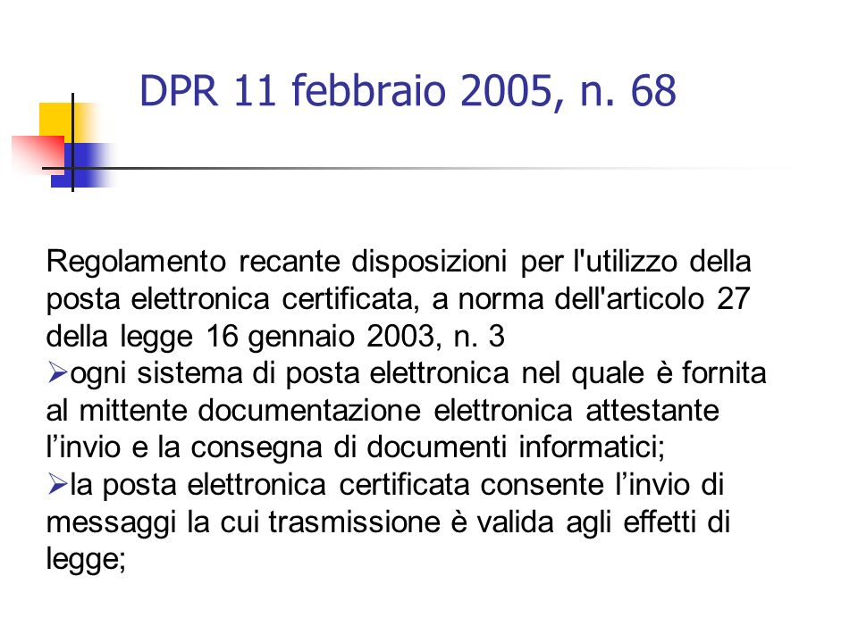 DPR 11 febbraio 2005, n. 68