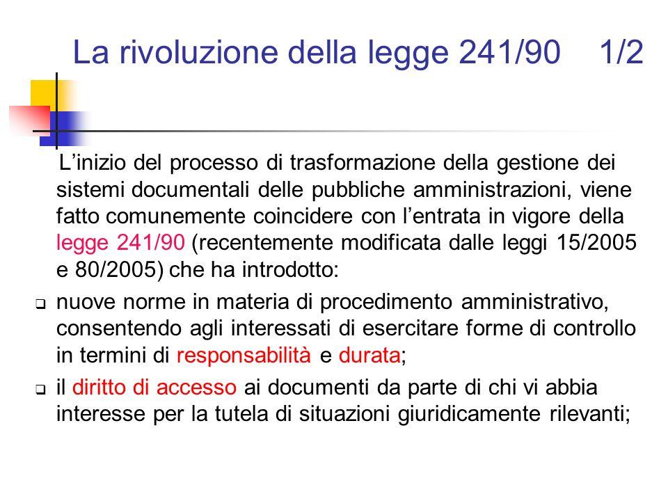 La rivoluzione della legge 241/90 1/2