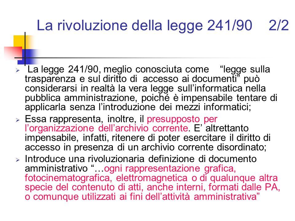 La rivoluzione della legge 241/90 2/2