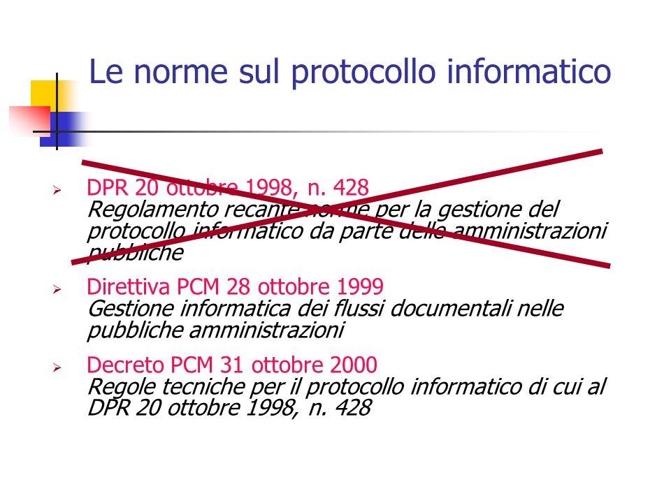 Le norme sul protocollo informatico
