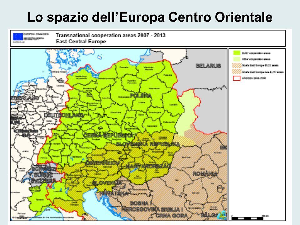 Lo spazio dell'Europa Centro Orientale