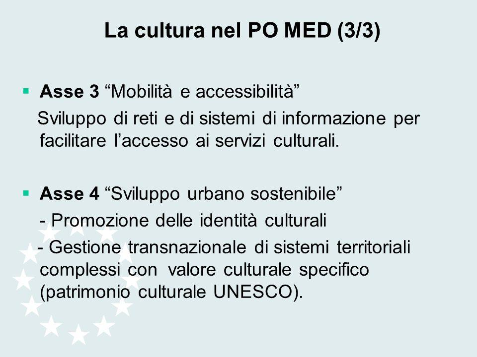 La cultura nel PO MED (3/3)