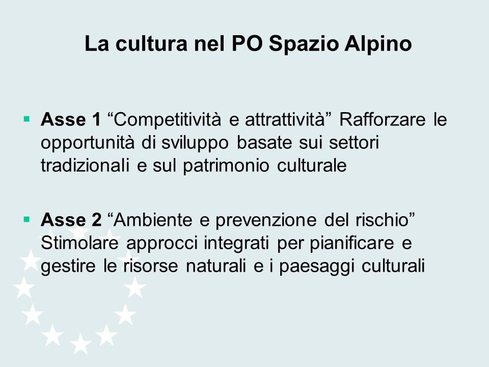 La cultura nel PO Spazio Alpino
