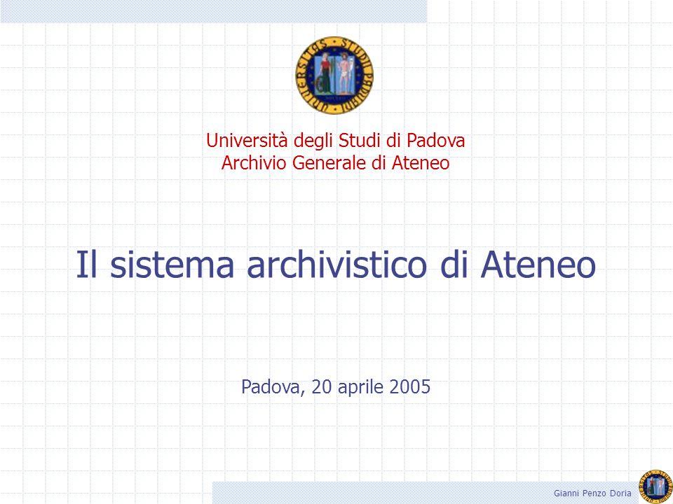 Il sistema archivistico di Ateneo