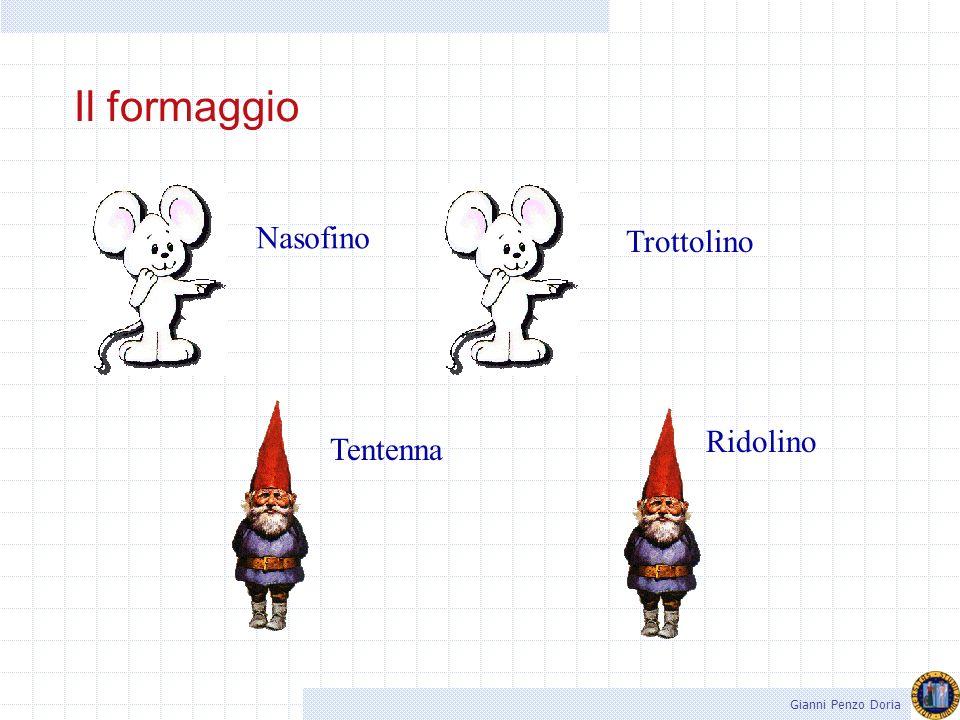 Il formaggio Nasofino Trottolino Ridolino Tentenna