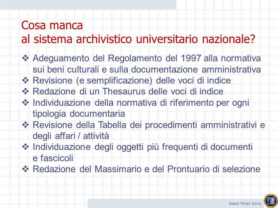 al sistema archivistico universitario nazionale