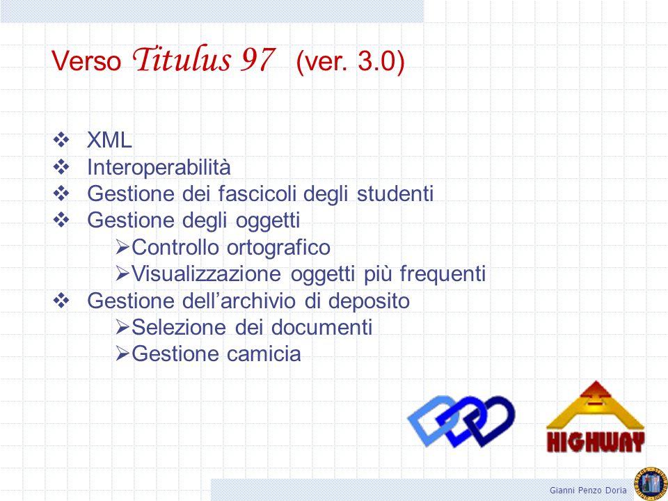 Verso Titulus 97 (ver. 3.0) XML Interoperabilità