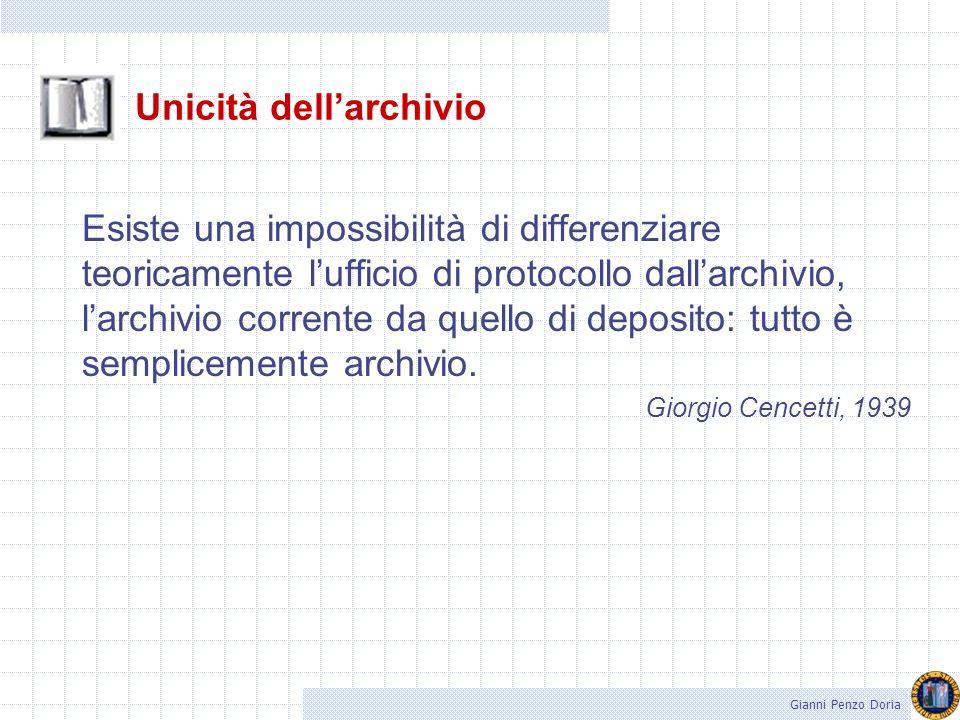 Unicità dell'archivio