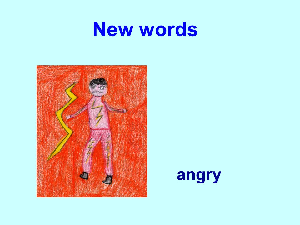 New words angry