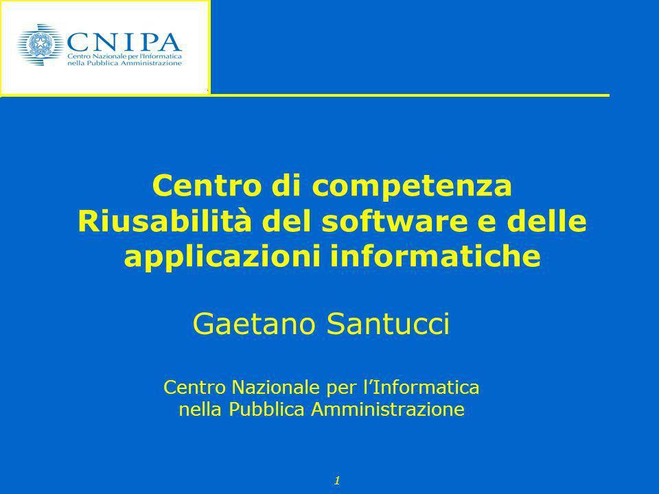Centro di competenza Riusabilità del software e delle applicazioni informatiche