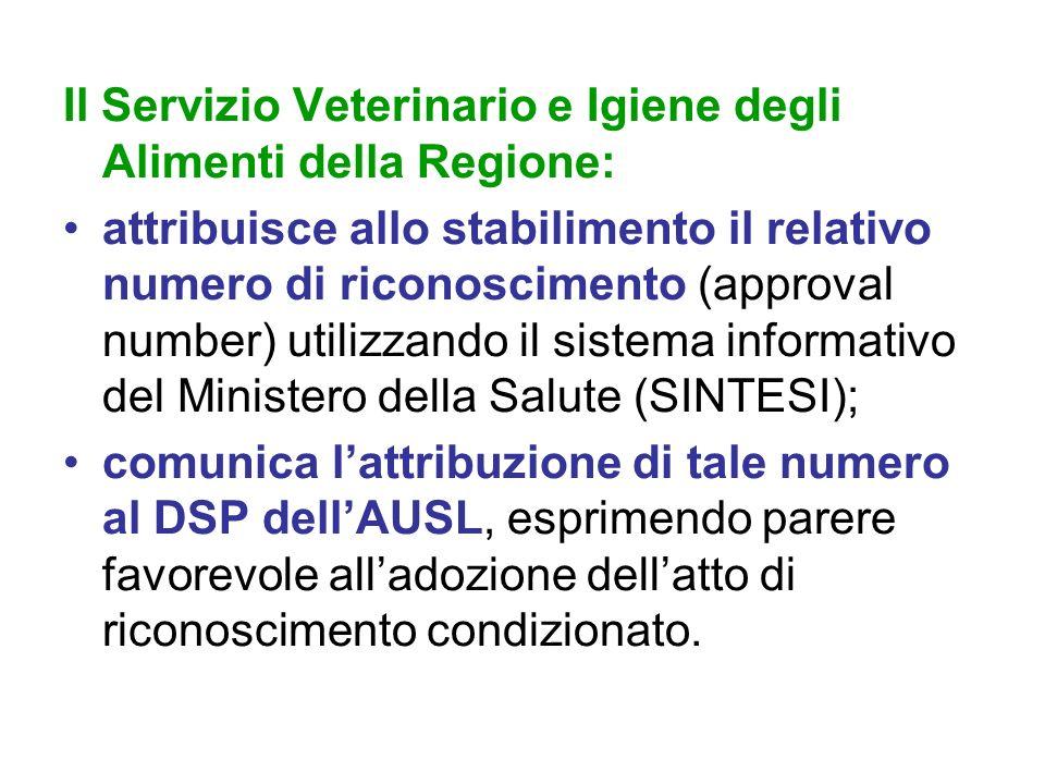 Il Servizio Veterinario e Igiene degli Alimenti della Regione: