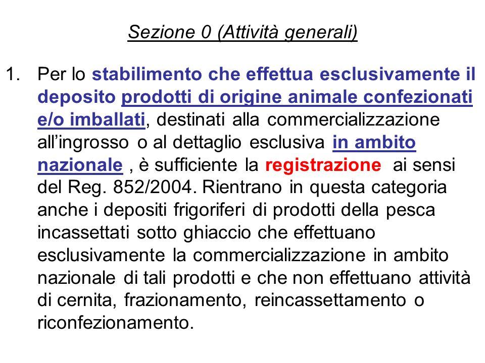 Sezione 0 (Attività generali)