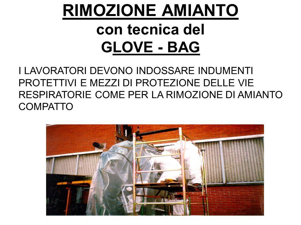 RIMOZIONE AMIANTO con tecnica del GLOVE - BAG