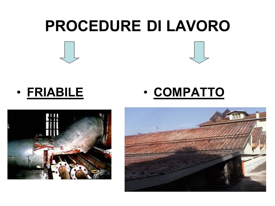 PROCEDURE DI LAVORO FRIABILE COMPATTO