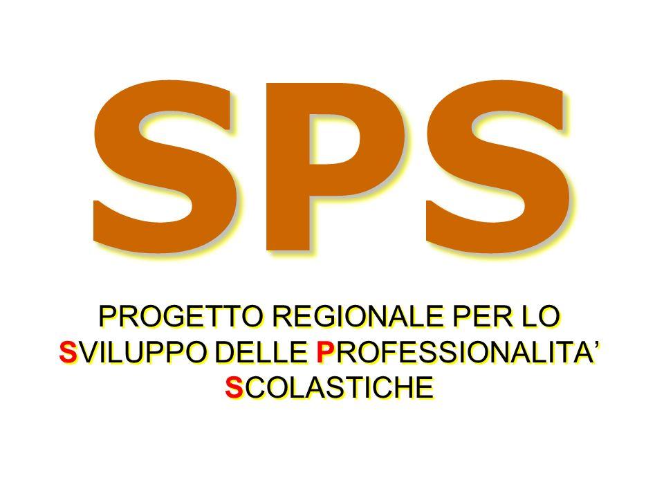 SPS PROGETTO REGIONALE PER LO SVILUPPO DELLE PROFESSIONALITA' SCOLASTICHE